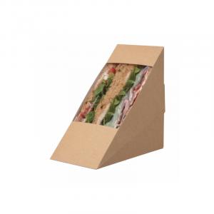 Posuda za trougaoni sendvič 123 x 72 x 123mm kraft (10 kom/pak)