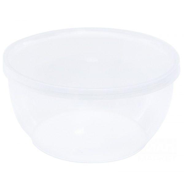 Posuda za delikatesu sa poklopcem 360 ml d=112 mm h—55 mm, 50 kom (komplet)