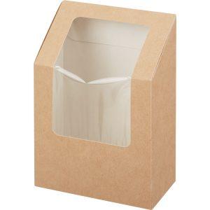 Kartonska posuda za salate-roll 90x50x130 mm kraft (25 kom/pak)