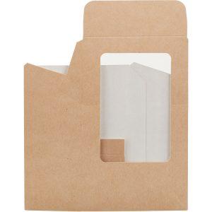 Posuda papirnata za salatu-roll 90x50x130 mm, kraft (25 kom/pak)