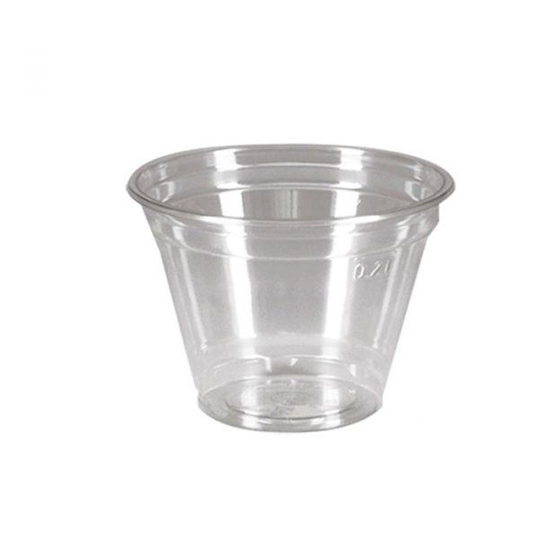 Čaša za desert 270ml, d=95 mm, providna, PET (50 kom/pak)