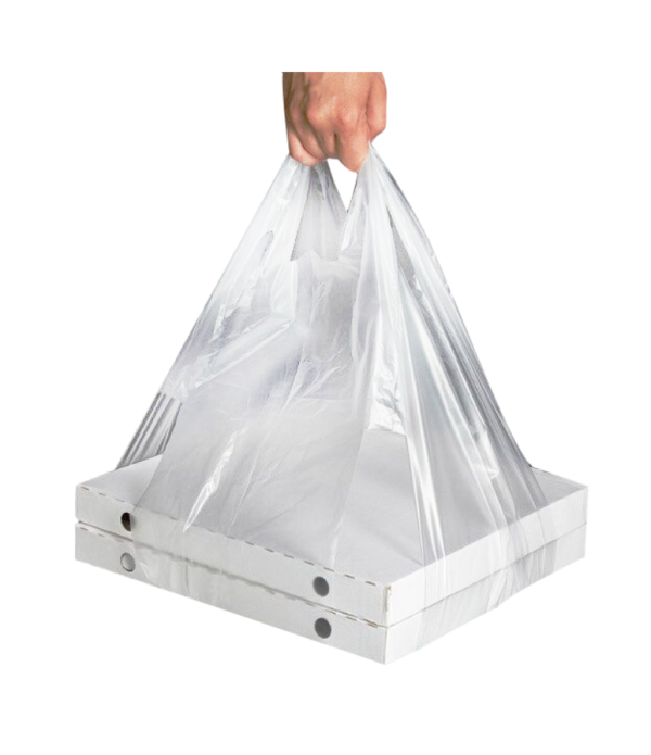 Kesa tregerice plastika LDPE 32+24х60 providna 14 μm za kutiju za picu (100 kom/pak)