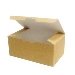Kutija za hranu za poneti 150х91х70mm Ecoline kraft (25 kom/pak)
