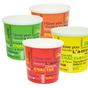 Papirnata posuda za supu sa poklopcem FIESTA 300 ml, 500 kom (komplet)