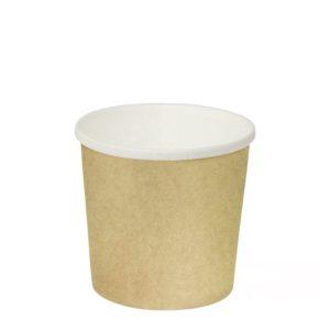 Posuda papirnata d=90mm, h=85mm, 300 ml, kraft, za topla jela (50 kom/pak)