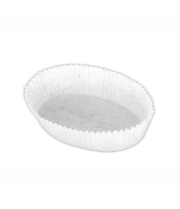Minjoni papirnate korpice za pecivo, oval 30х80mm, h=25mm, bijele (2000 kom/pak)