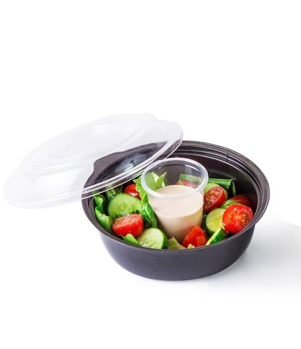 Posuda PS za salatu КD-110 450ml, crna (400 kom/pak)