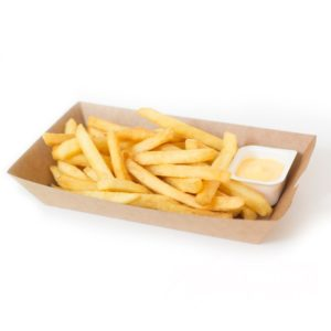 Posudica papirnata kraft za fast food 163х85х40mm (500 kom/pak)