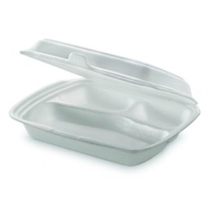 Lunch box 3-odeljka 250 x 210 x 65 mm (100 kom/pak)