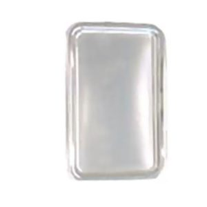 Poslužaonik sa poklopcem PET Sabert 35×16 cm srebro, 50 kom (komplet)
