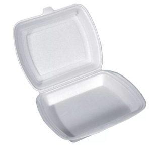 Kutija za ručak preklopna LUNCH BOX EPS 1 odeljak 250х210х35mm (100kom. u pakovanju) (100 kom/pak)