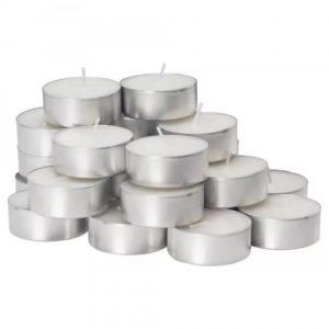 Svećice u alu kalupu bele 100kom. u pakovanju
