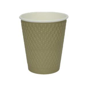 Čaša papirnata troslojna 310 (410) ml d=90mm valovita, cigla