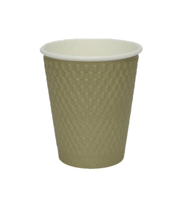 Papirna čaša 3-sl 310 ml d=90 mm zlatni kraft (25 kom/pak)