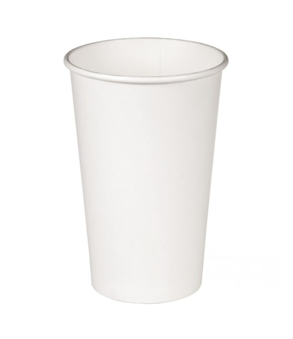 Papirna čaša 1-sl 400 ml d=90mm bijela (50 kom/pak)