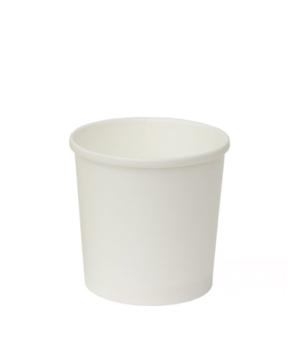 Posuda papirnata d=90mm h=85mm 300 ml bela za topla jela (50 kom/pak)