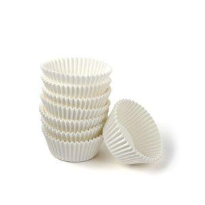 Papirnata posodica za muffine in mignone okrogla, bela d=25mm h=16mm