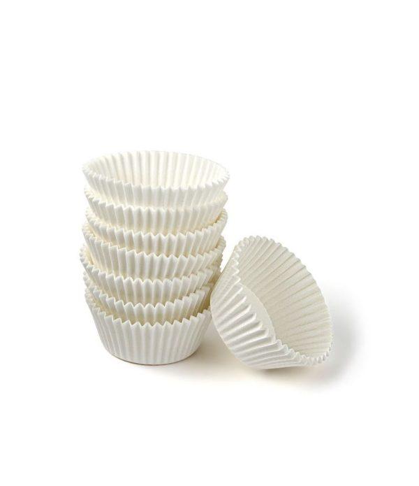 Minjoni papirne korpice za pecivo okrugli d=30 mm h=18 mm bijeli (1000 kom/pak)