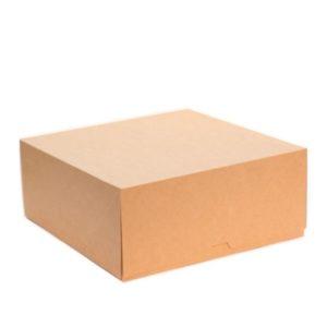 Posuda za torte, desert ECO CAKE 255х255х105 mm, 6000 ml, kraft (25 kom/pak)