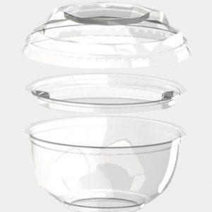 Poklopac za činiju  BOPS 220 ml d=110 mm providan (1000 kom/pak)