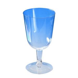 Čaša za vino 200 ml, providna (crna osnova) PS (324 kos/pak)