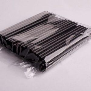 Slamice ravne za koktejle. D=8 mm l= 210 mm. Črne. 250/1 zavoj