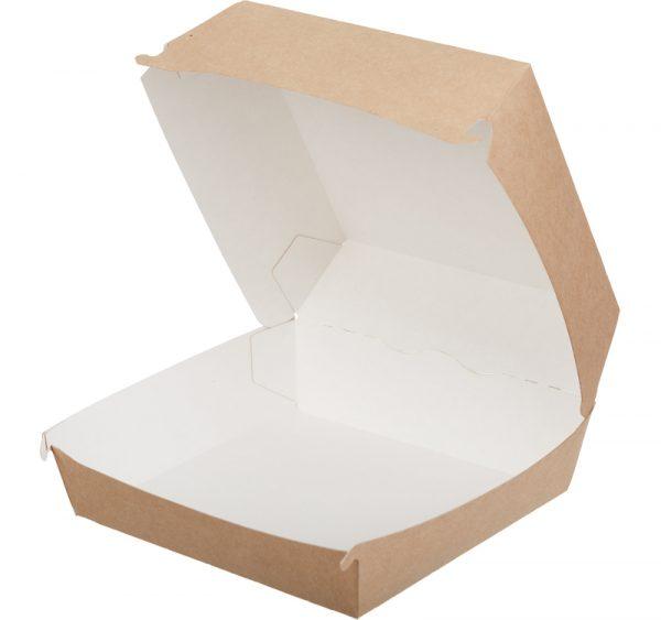 Kutija za hamburger ECO BURGER L, 120х120х70mm, kraft (150 kom/pak)