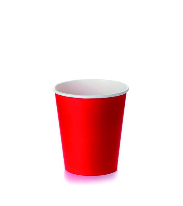 Papirna čaša 1-sl 250 ml d=80 mm crvena (50 kom/pak)