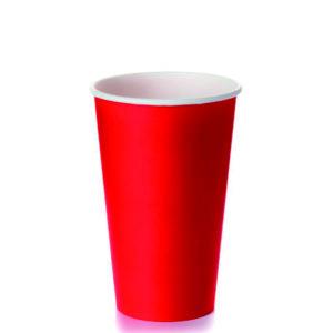 Papirnat kozarec 400 (518) ml za tople napitke, d=90 mm, rdeč