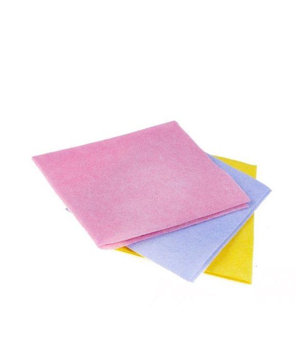Krpa viskozna univerzalna  za suho i mokro čišćenje 30×38 cm 3 kom/pak  plava ToMoS