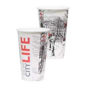 Papirnat kozarec Big City Life 400 ml za tople napitke, d=90 mm