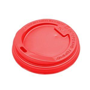 Poklopac sa bočnim otvorom, d=80 mm crven PS (100 kom/pak)