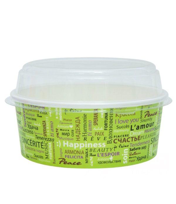 Papirnata posuda sa poklopcem Fiesta za salatu 750 ml, d=150mm, 100 kom (komplet)