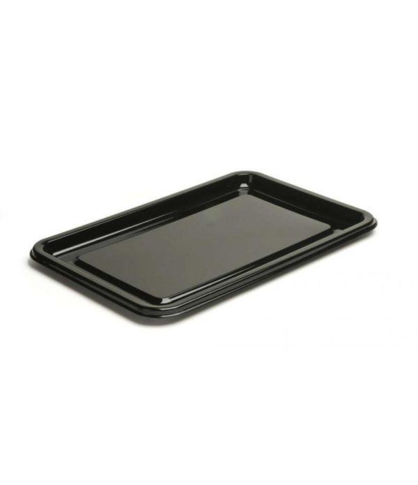 Poslužaonik PET 35 x 24 cm crna sa poklopcem, 50 kom (komplet)