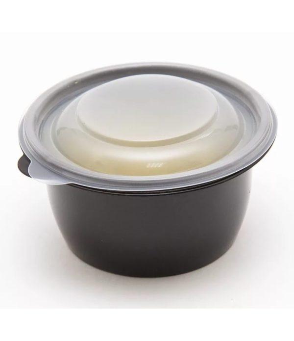 Orkugla posuda sa poklopcem 375 ml crna, 50 kom (komplet)