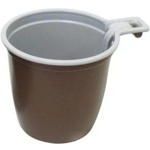 Šolica za kafu 180 ml belo smeđa INT (50 kom/pak)