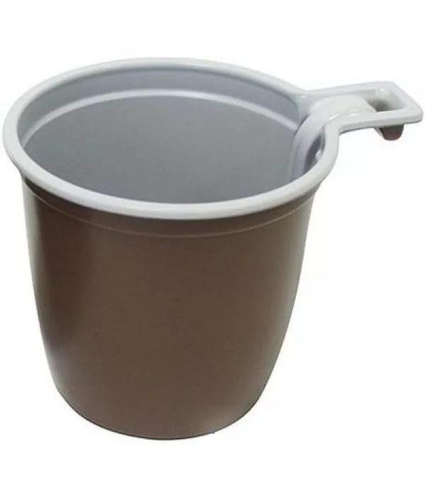 Šolica za kafu 180 ml PP belo smeđa INT (50 kom/pak)