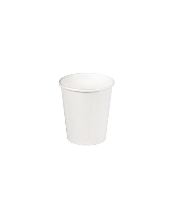 Čaša papirnata jednoslojna 100 (109) ml d=62mm za topla pića bela