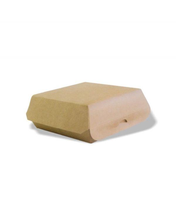 Kutija za hamburger 120x120x70 mm, kraft (50 kom/pak)