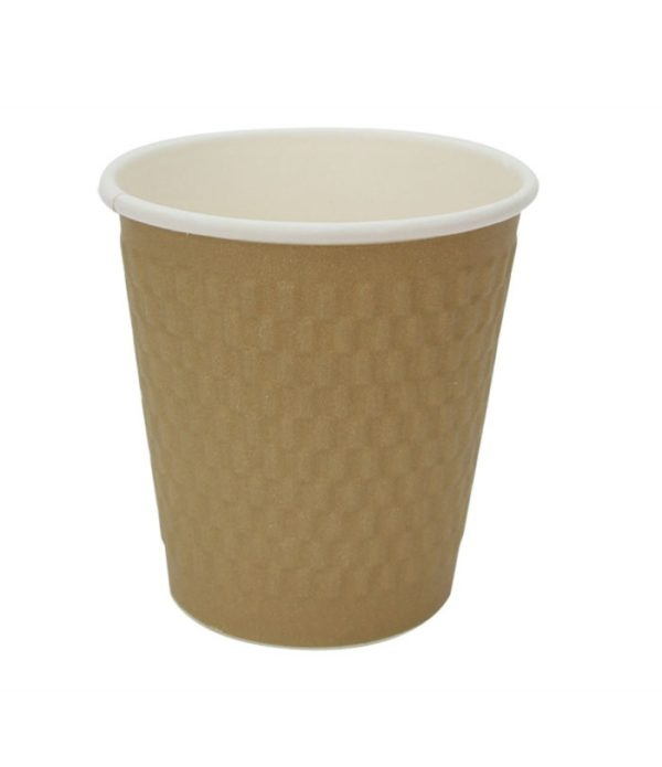 Papirna čaša 3-sl 200 ml d=80 mm kraft cigla (25 kom/pak)