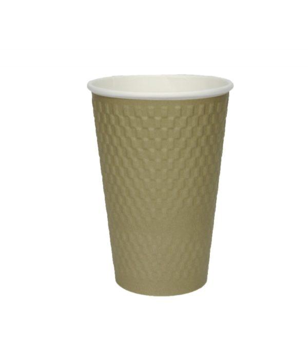 Papirna čaša 3-sl 410 ml d=90 mm kraft cigla (25 kom/pak)