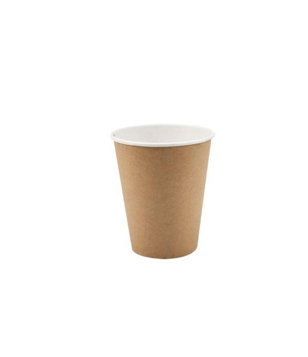 Papirna čaša 1-sl 330 ml d=90 mm kraft (50 kom/pak)