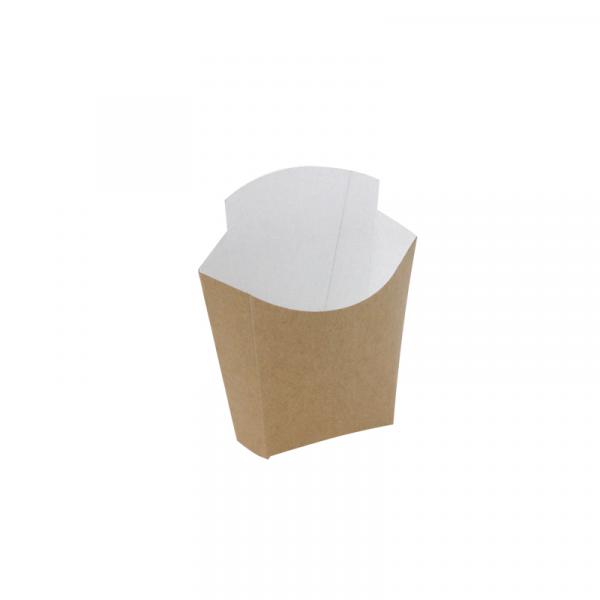 Kutija za pomfrit velika kraft CHIP SCOOP 81/69 x 49/43 x 71/125 (1000 kom/pak)
