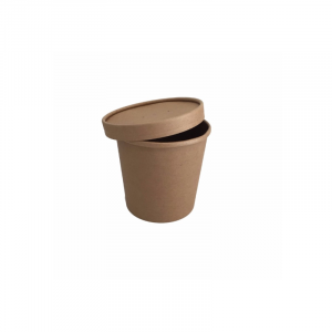 Kartonska posuda za supu 450 ml kraft (25 kom/pak)