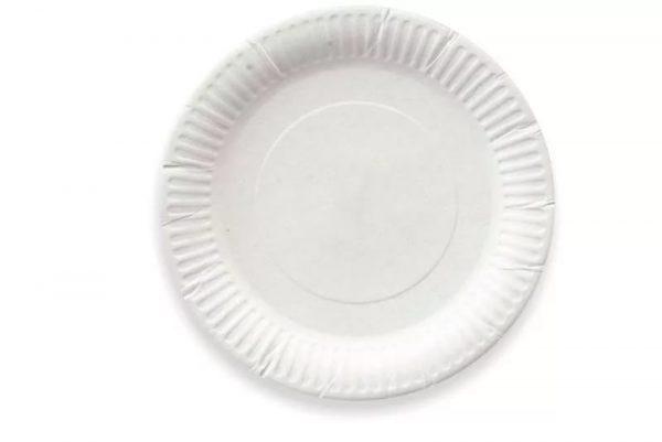 Tanjir kartonski d=200 mm bijeli glaziran (100 kom/pak)