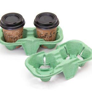 Držač za dve čaše 193х108х42 mm zelene boje (110 kom/pak)