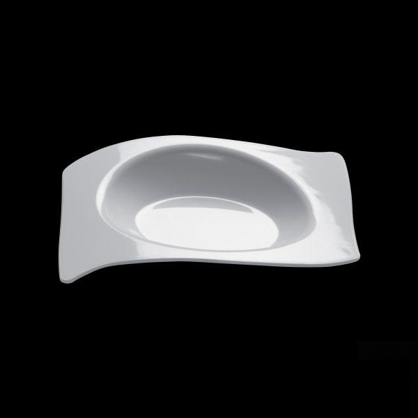 Flat-posudica za catering bela PS Gold plast (50 kom/pak)