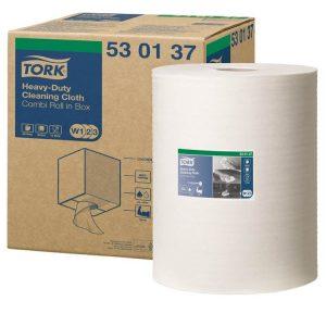 Materijal za brisanje Tork W3 izdržljiv, beli, kombi rolna (530137)