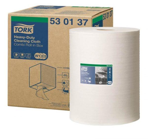 Materijal za brisanje Tork W3 izdržljiv, bijeli, kombi rolna (530137)