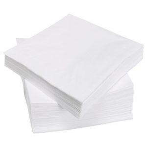 Salvete papirnate 25×25 cm TaMbien 100 kom/pak bele